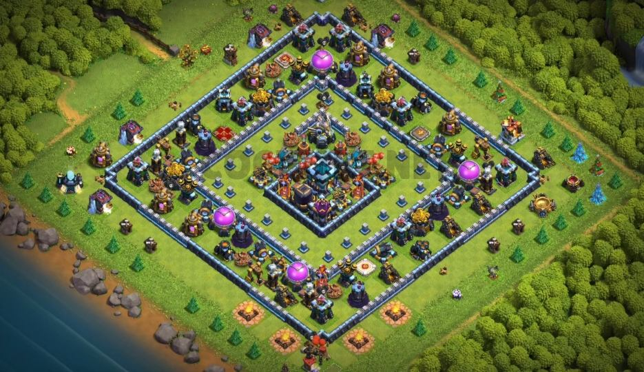 top town hall 13 farming village map link