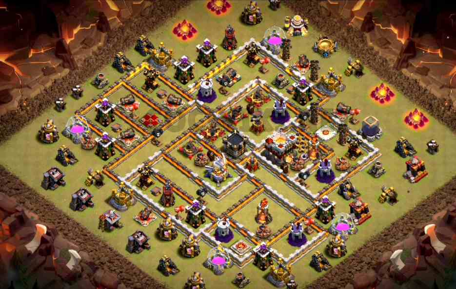 clash of clans town hall 11 base layout