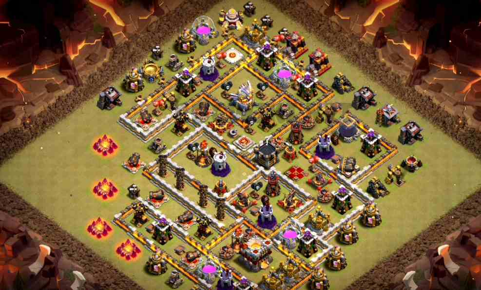 clash of clans town halll eleven war layout link