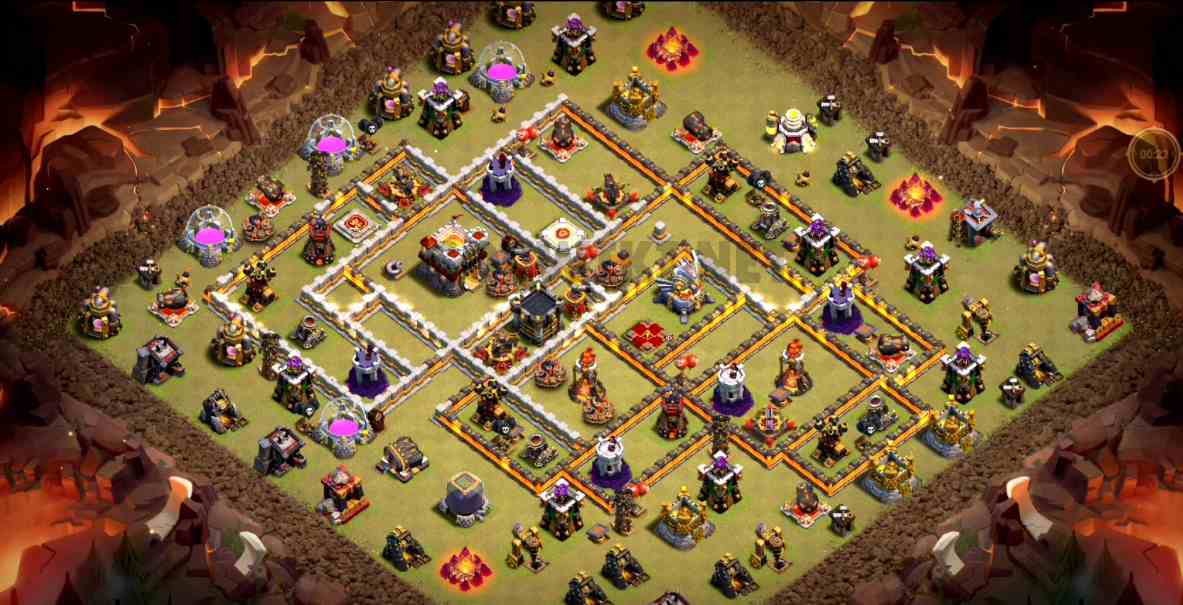 coc th11 war base design map link download