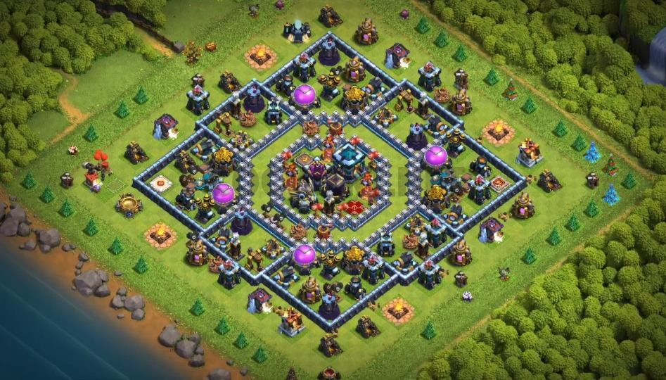 clash of clans th13 farming base