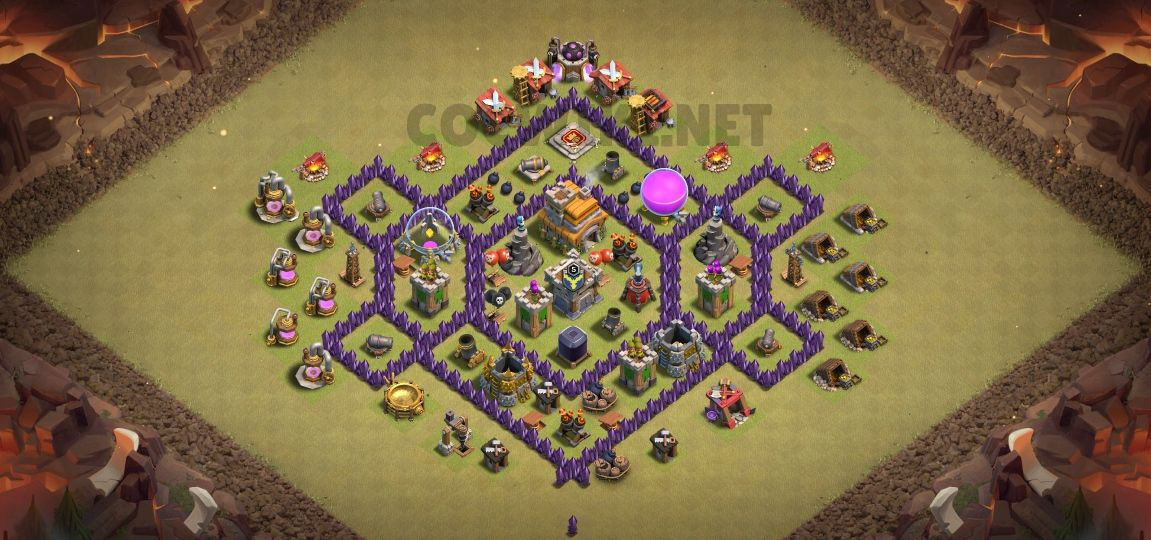 clash of clans anti 3 stars design town hall 7