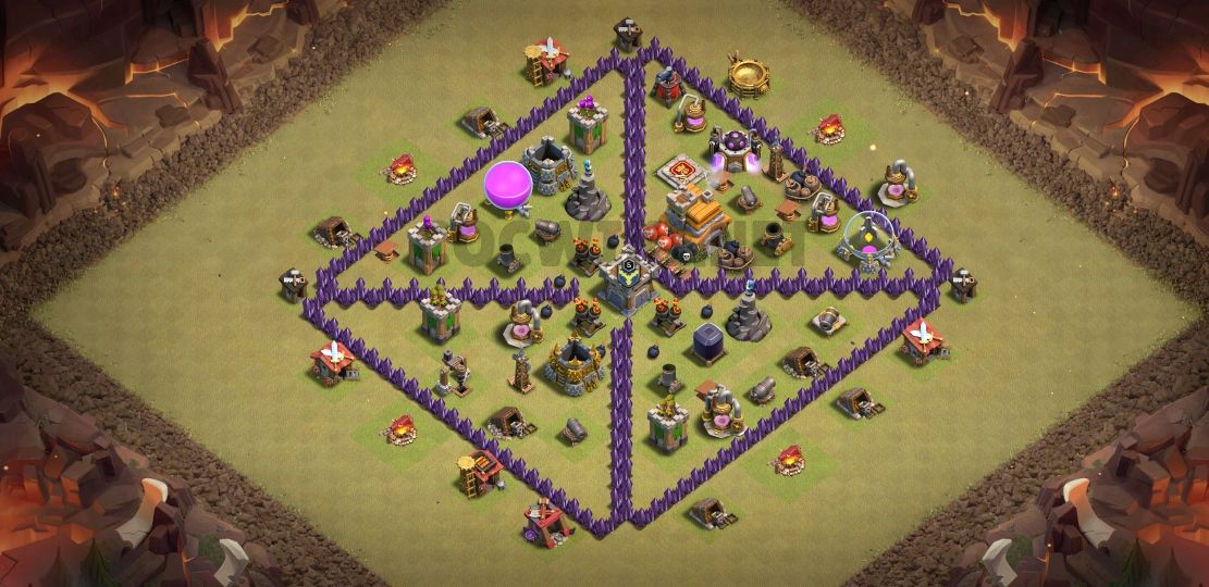 clash of clans th7 war base