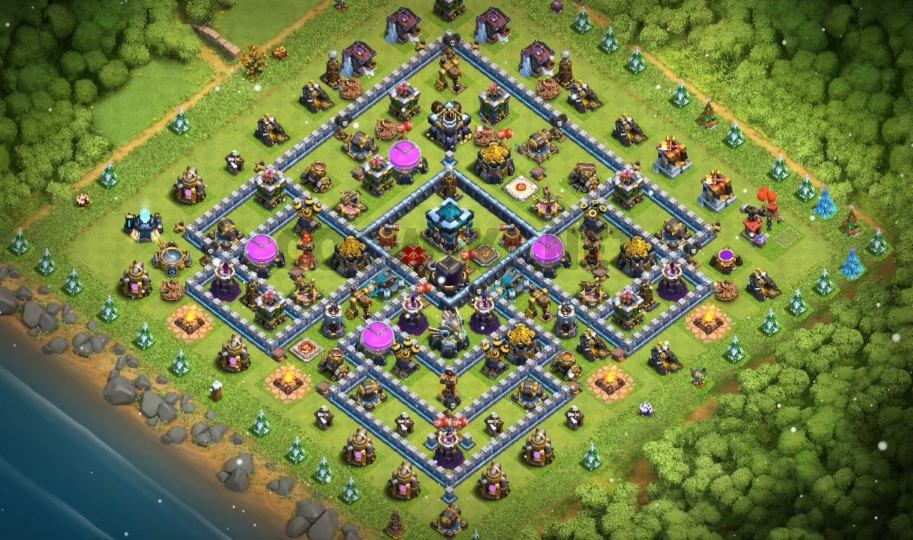 clash of clans town hall 13 farming base layout
