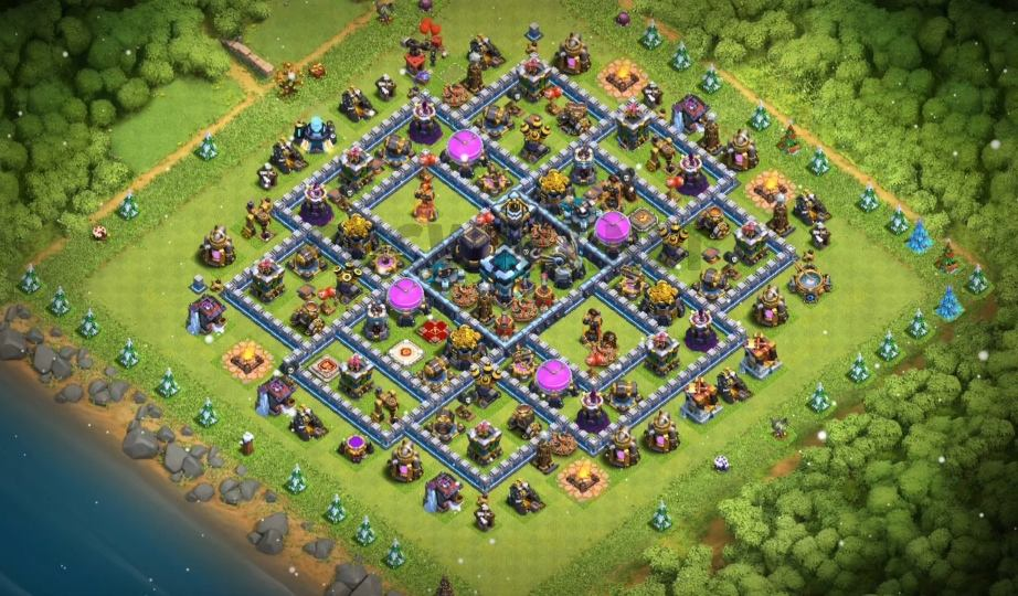 clash of clans town hall 13 farming base