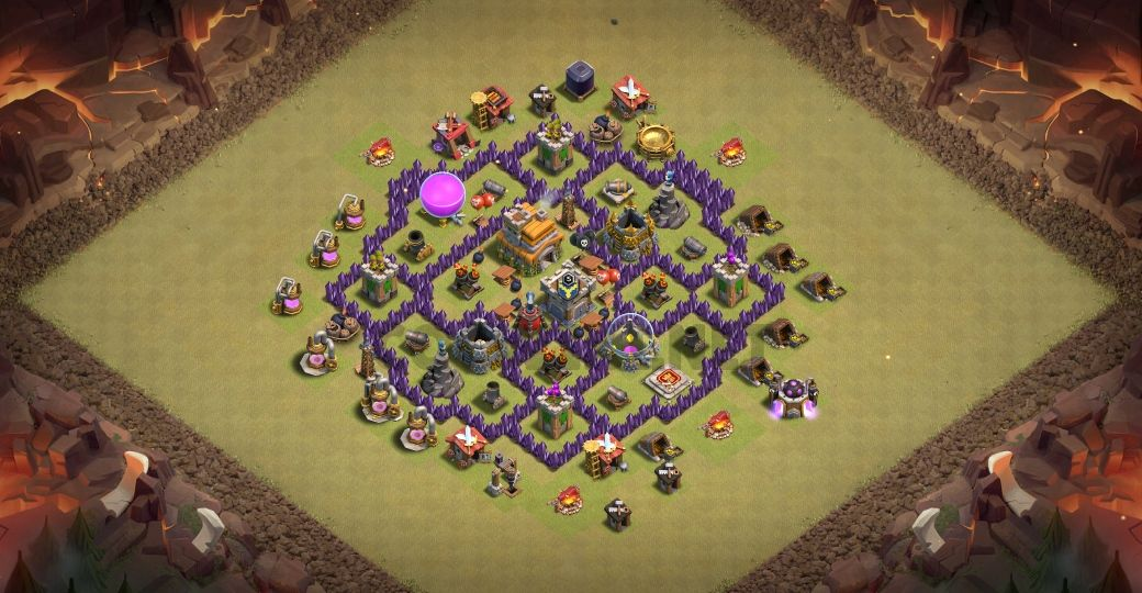clash of clans th7 war layout link