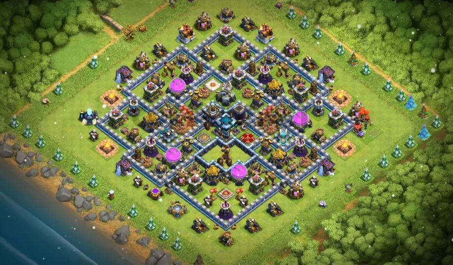 clash of clans town halll thirteen farming layout link