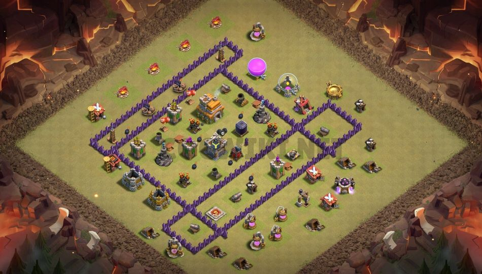 clash of clans town hall 7 base layout