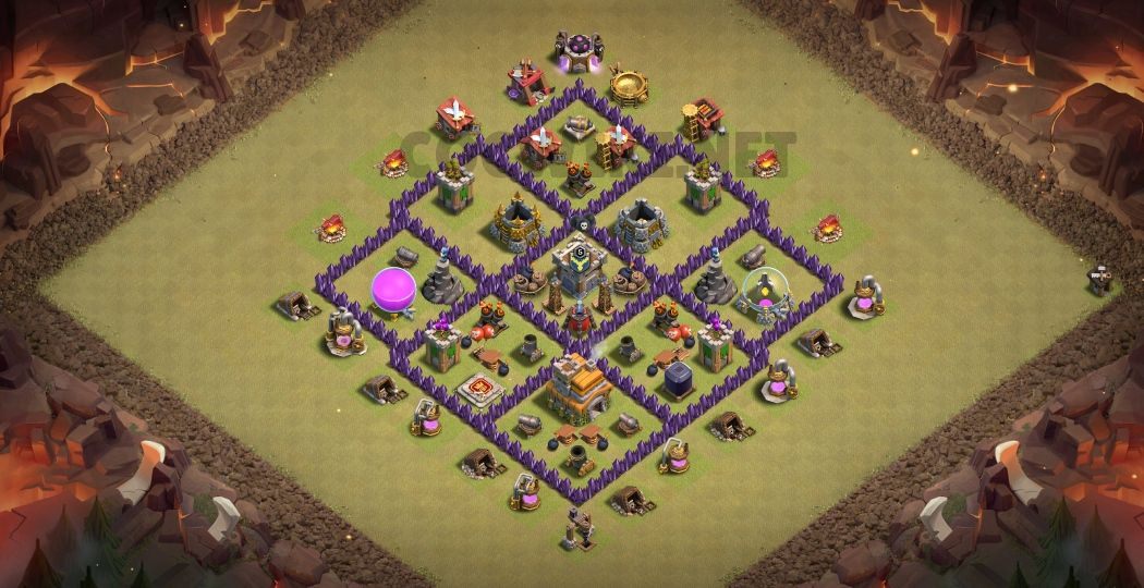 town hall 7 war base link anti everything