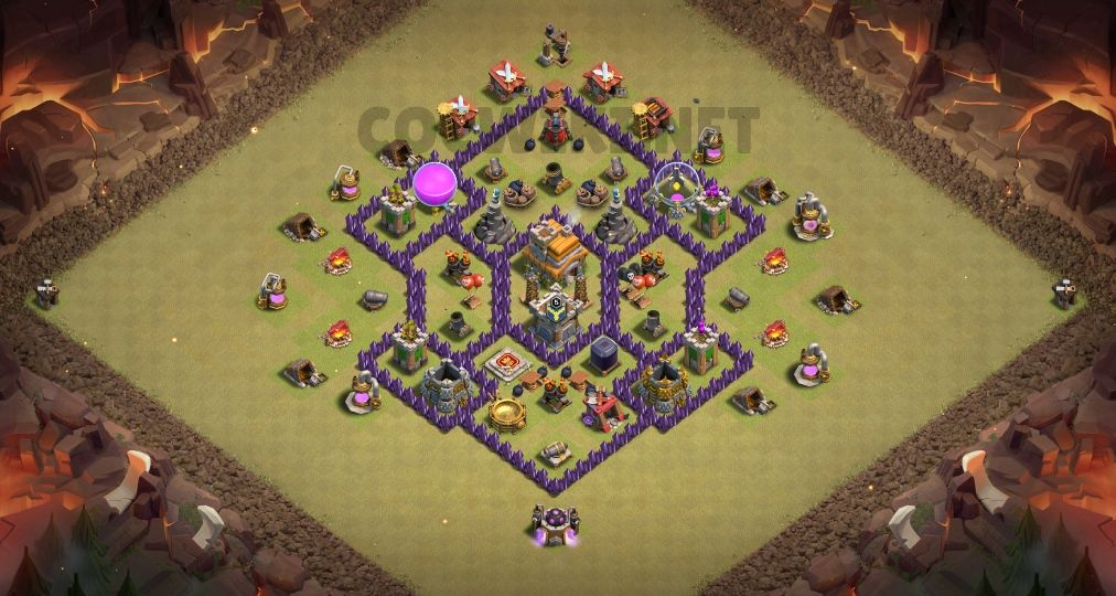 coc th7 war base link