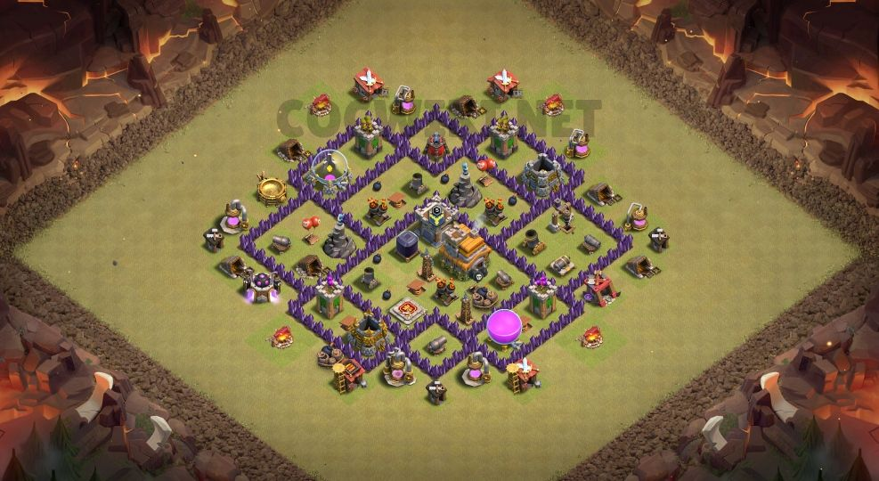 best clash of clans base town hall 7 link