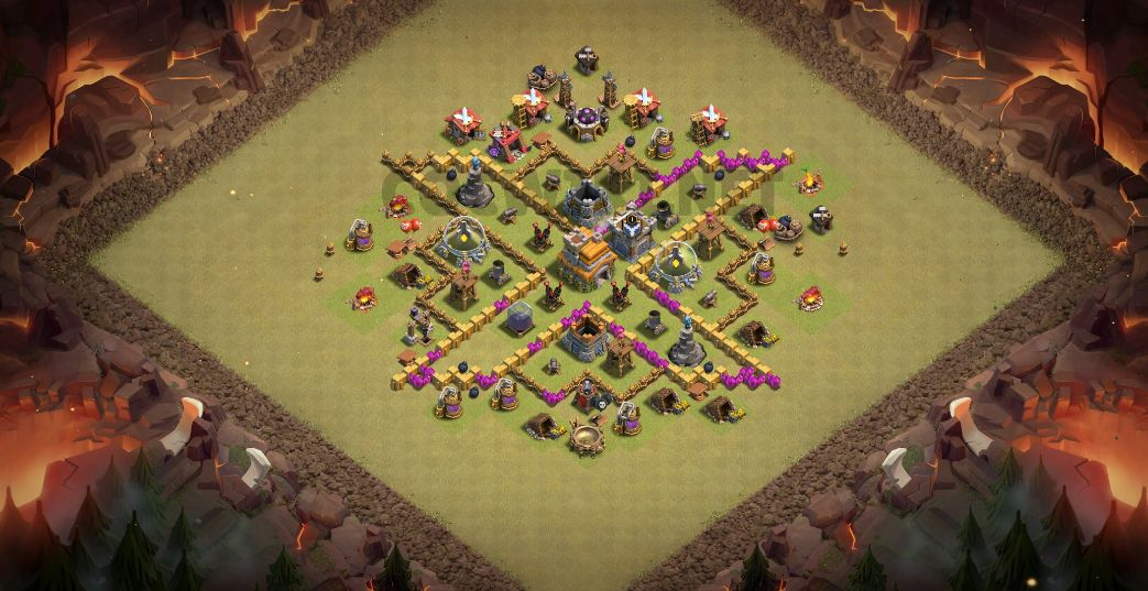 level seven war base anti 2 star